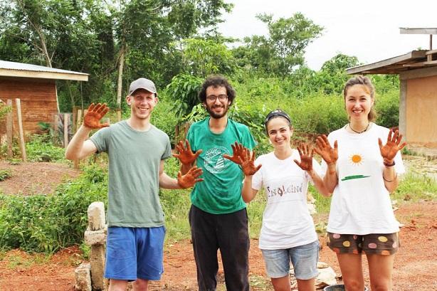 Matthew Addeo, far left, in Ghana.
