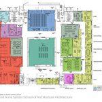 Spitzer School, first floor blueprint