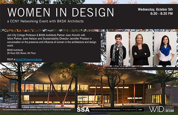 flyer: Women in Design event