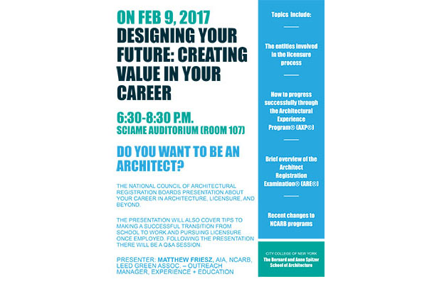 poster: NCARB event