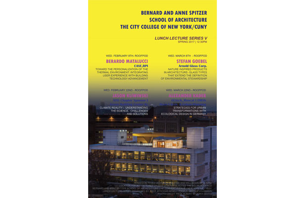 poster: spring 2017 Roofpod Lecture Series
