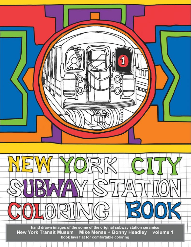 cover: New York City Subway Station Coloring Book