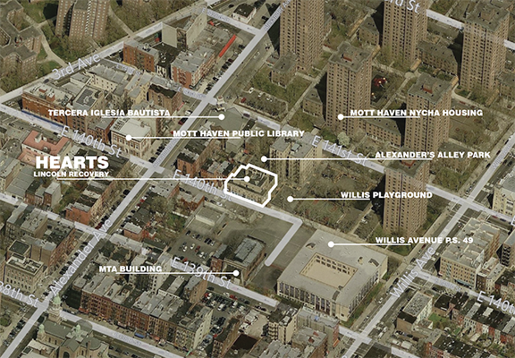 photo: aerial view of the Lincoln Recovery Center's block