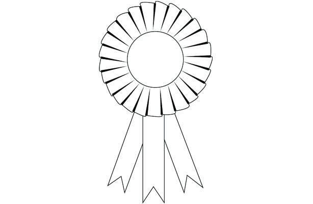 line art: award ribbon