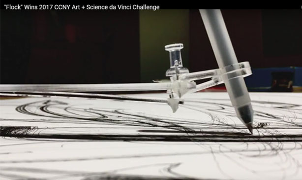 Flock Wins 2017 CCNY Art + Science da Vinci Challenge