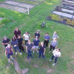 aerial group photo