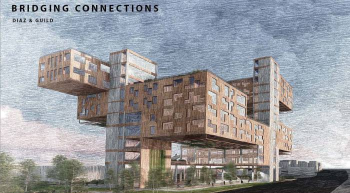 rendering of building project
