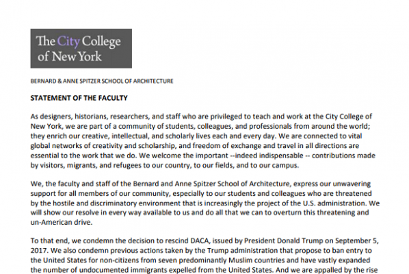 DACA statement by faculty