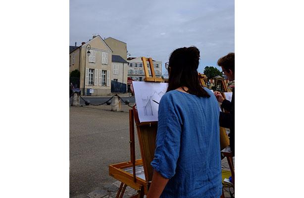 photo: painting street scene