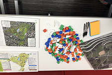 photo of graph with building blocks