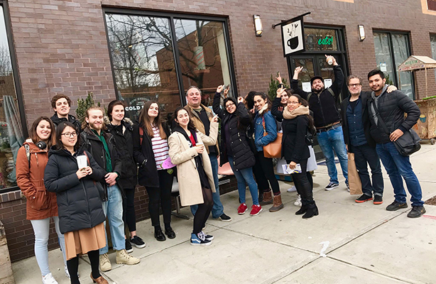 Students in the spring 2018 Artimus studio tour East Harlem with the non profit Uptown Grand Centrall