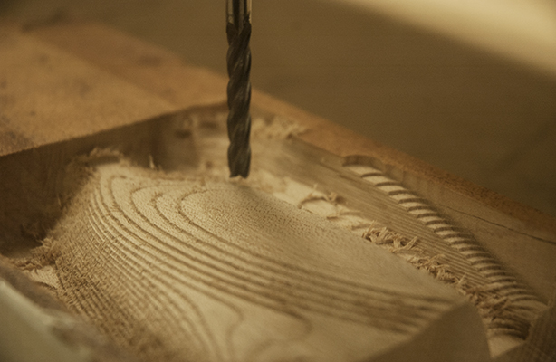 photo of topography being milled by cnc