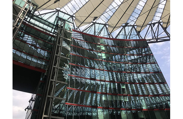 Sony center glass facade, Berlin