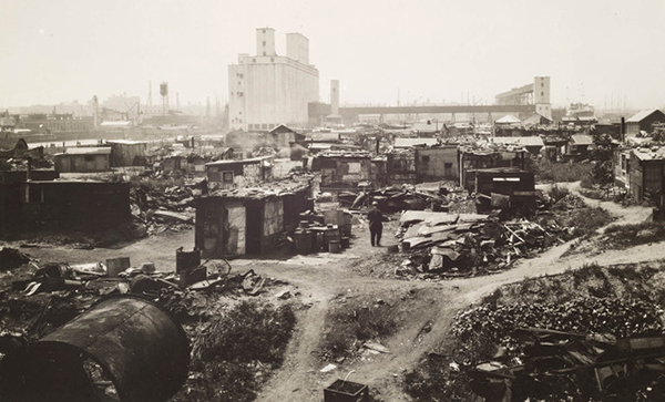 Shacks in Red Hook, c. 1930. New York Municipal Archives