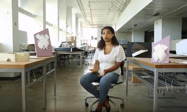 video still: Leslie Epps in studio
