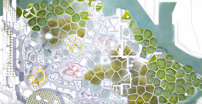 colorful urban-scale plan