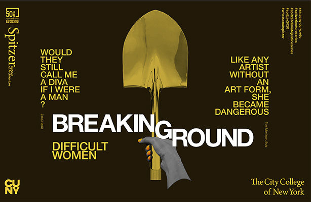 Breaking Ground graphic - woman's hand with shovel