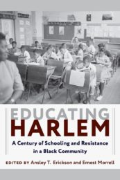 book cover: Educating Harlem