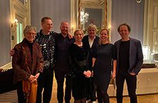 photo: Brown, left, with Dutch architectural colleagues at an Amsterdam event