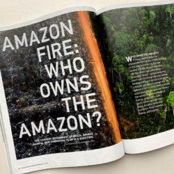 Amazon Fire magazine spread
