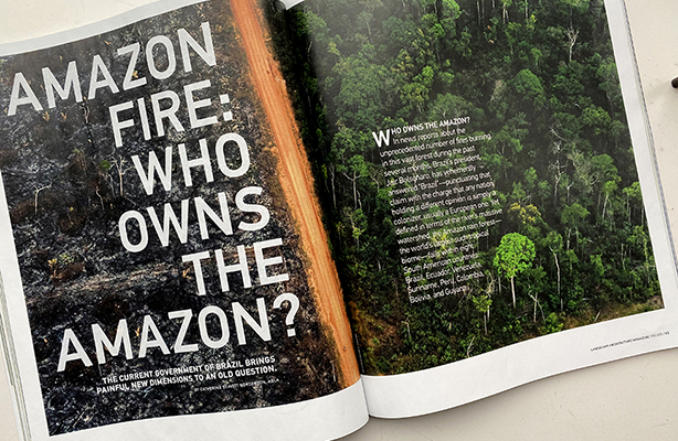 Amazon Fire magazine spread