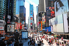 color photo: Times Square