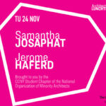 Samantha Josephat and Jerome Haferd Lunchtime Lecture Announcement