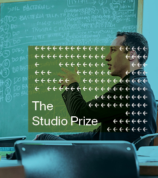 Studio Prize graphic with Prof. Jerome Haferd