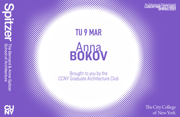 Anna Bokov Lunchtime Lecture Poster