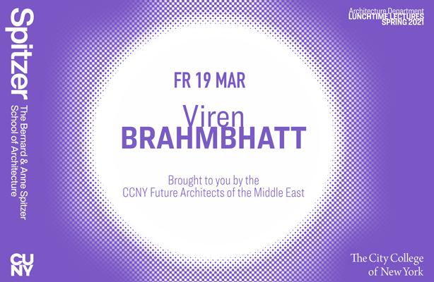 Viren Brahmbhatt Lunchtime Lecture Poster
