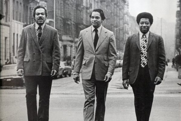 photo: The architects Donald P. Ryder, center, J. Max Bond Jr., left, and Nathan Smith in about 1969