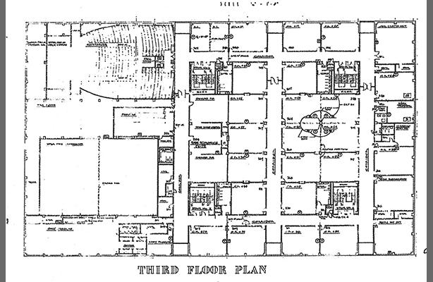 Curtis Davis IS 201 3rd floor plan construction documents 1964-66