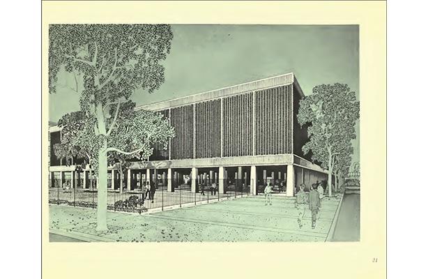 Herman Jacoby View of Junior High School 201, 1962