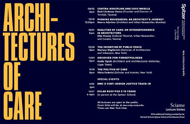 Fall 2021 Sciame Lecture Series Calendar