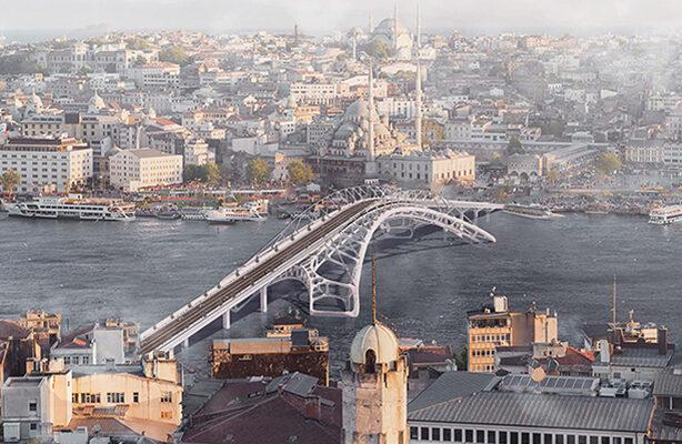 Aerial View of Galata Bridge
