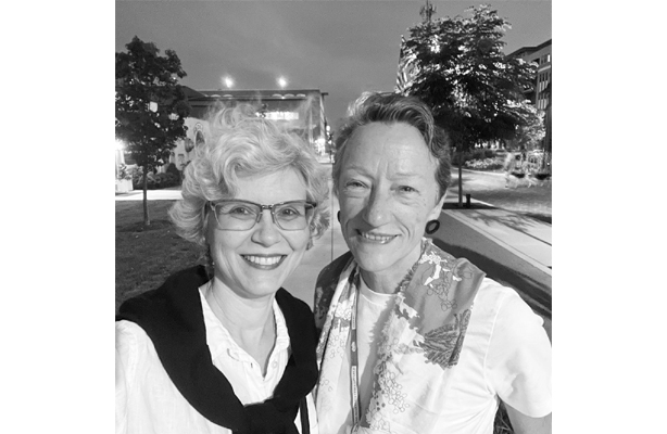 Photo: June Williamson and Ellen Dunham-Jones