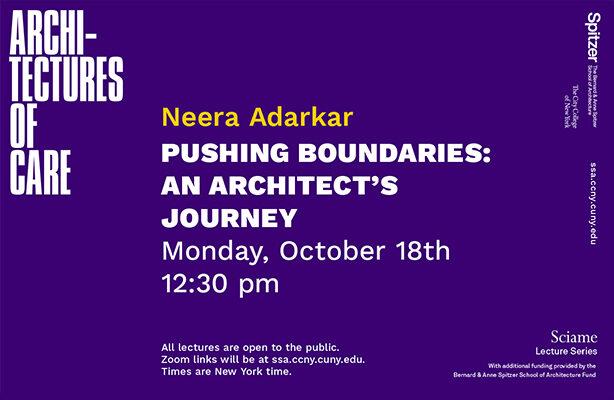 Neera Adarkar Sciame Lecture Graphic