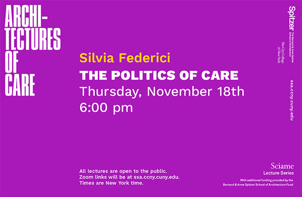 Silvia Federici Sciame Lecture Graphic
