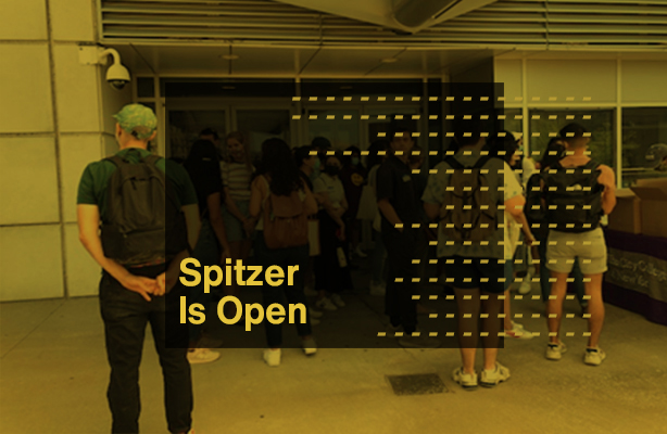 Spitzer is Open Fall 2021 Graphic