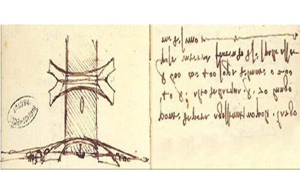 The Galata Bridge Sketch Appears In One Of Leonardo's Notebooks In A Royal Library In France. (lnstitut De France)