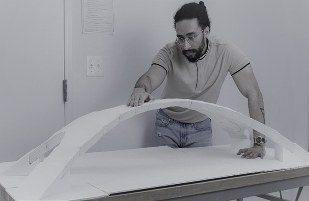 Ahmed Helal Undergraduate Examining Bridge Prototype