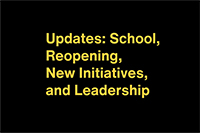 Updates School Reopening New Initiatives And Leadership 2