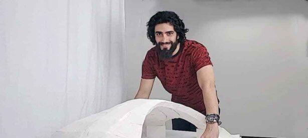 Photo: Mohammed Bolhassani with Da Vinci Bridge