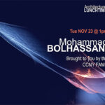 Lunchtime Lecture Mohammad Bolhassani Graphic